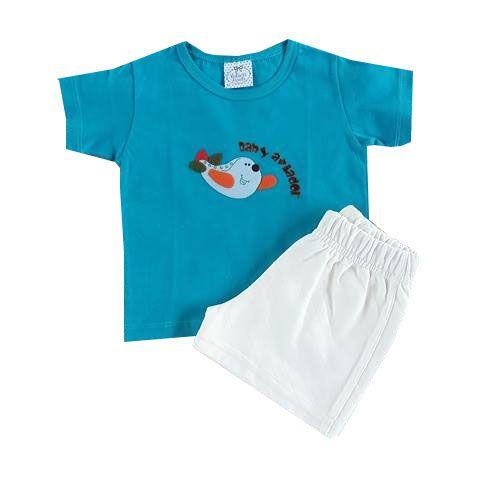 Conjunto Bebê Camiseta e Shorts Baby Aviador