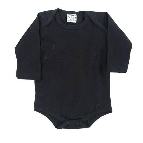 Body Bebê Preto Piquet