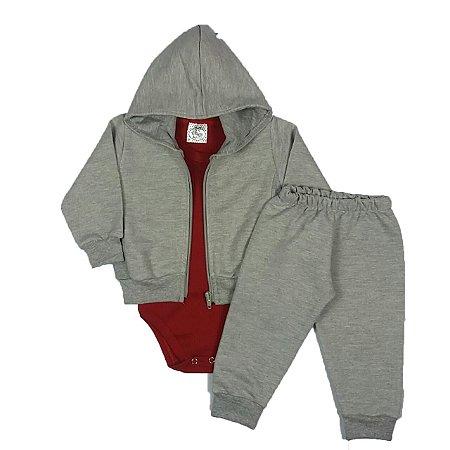 Conjunto Bebê Body + Jaqueta e Calça