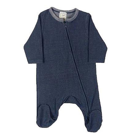 Macacão Bebê De Inverno Jeans