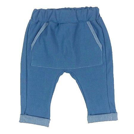 Calça Bebê Saruel Azul