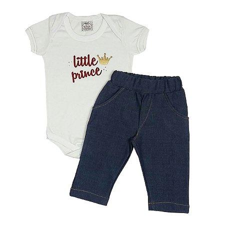 Conjunto Bebê Bodie Little Prince + Calça Jeans