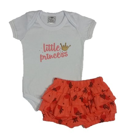 Conjunto Little Princess Com Shorts Bunda Rica