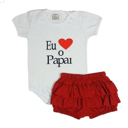 Conjunto Bebê Amo O Papai Menina