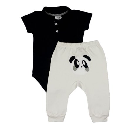Conjunto Body Polo + Calça Panda