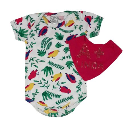 Body Bebê Tropical + Bandana