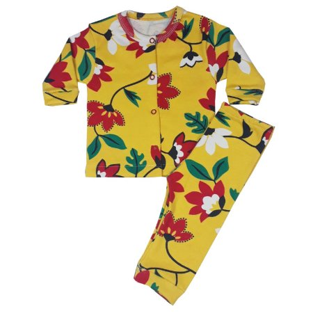 Conjunto Bebê Casaquinho + Calça Floral