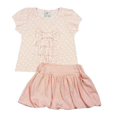 Conjunto Infantil Saia + Blusinha