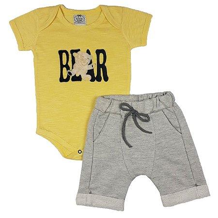 Conjunto Bebê Bear + Bermuda Saruel