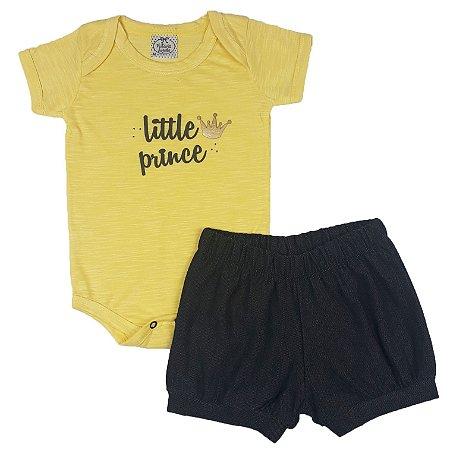 Conjunto Bebê little Prince Amarelo
