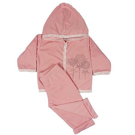 Conjunto Bebê Pirulitada Rosa