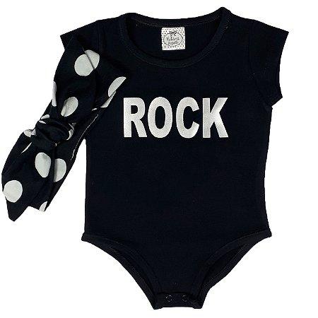 Body Infantil Rock + Turbante