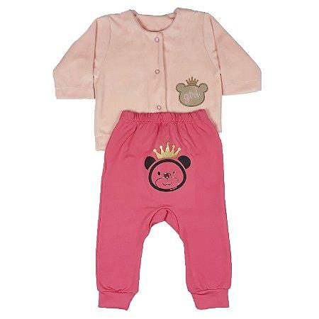 Conjunto Bebê Urso Rosa