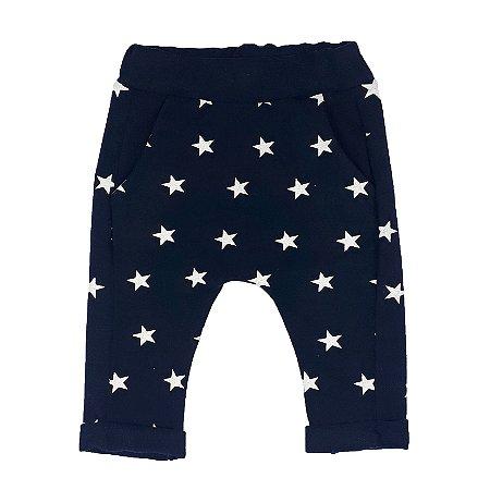 Calça Bebê Saruel Estrelas Marinho