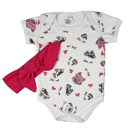 Body Bebê Gatinha + Turbante