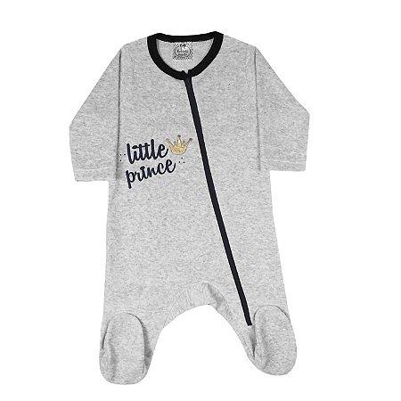 Macacão Bebê de Plush Com Zíper Mescla