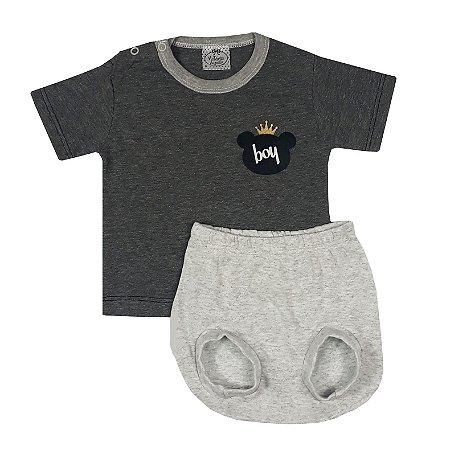 Conjunto Bebê Camiseta Boy + Tapa Fralda