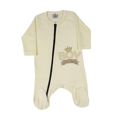 Macacão Bebê De Plush Menino Amarelo