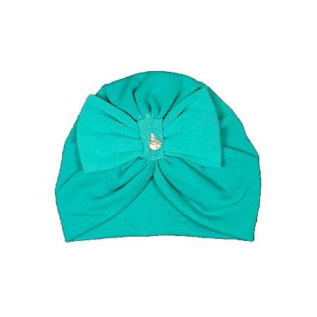 Turbante Bebê Azul Turquesa