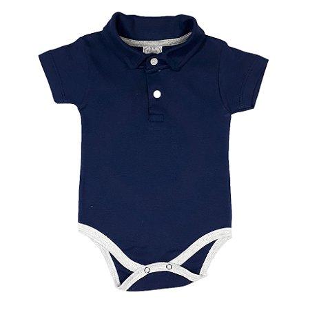 Body Bebê Polo Azul Marinho