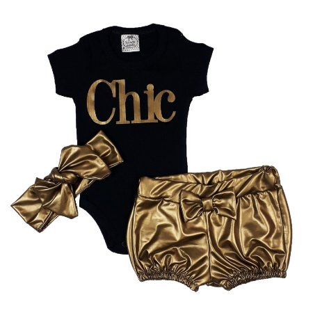 Conjunto Bebê Chic Dourado
