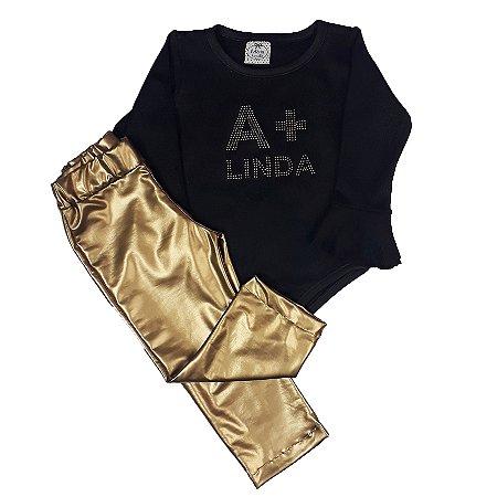 Conjunto Infantil A + Linda Dourado