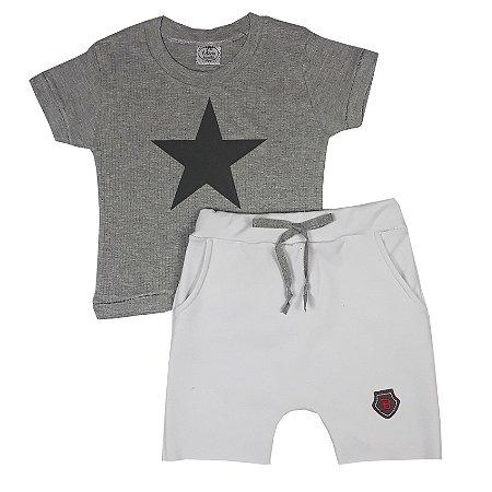 Conjunto Infantil Estrela Cinza