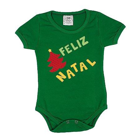 Body Bebê Feliz Natal Verde