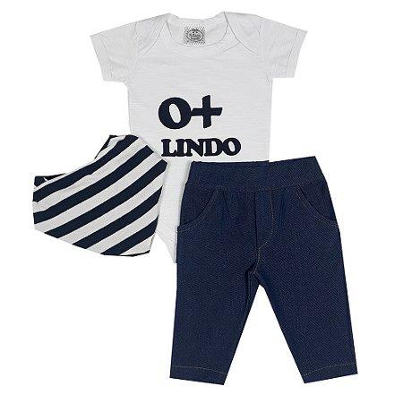 Conjunto Bebê Bodie O + Lindo Com Calça Jeans E Bandana