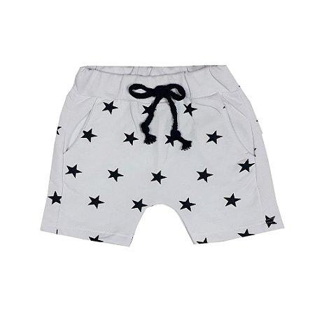 Bermuda bebê Saruel Estrelas Branca