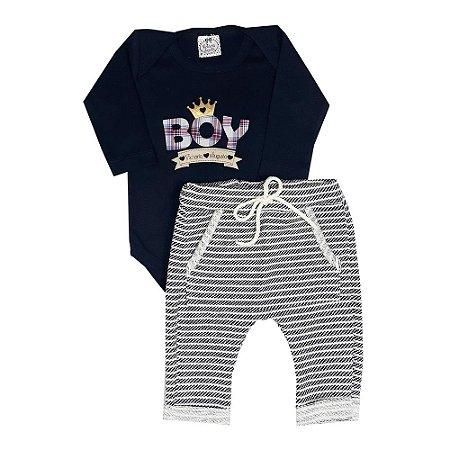 Conjunto Bebê Boy + Saruel Listrada
