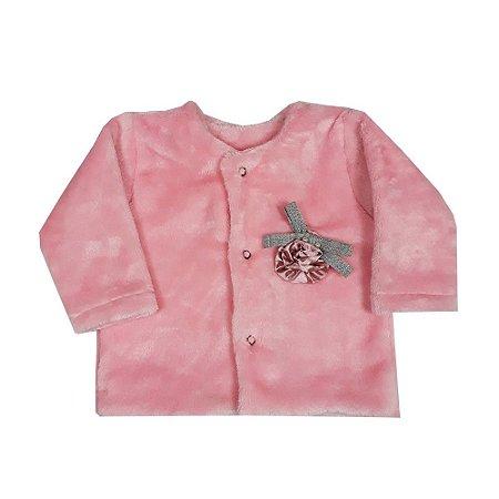 Casaco Bebê De Pelo Rosa