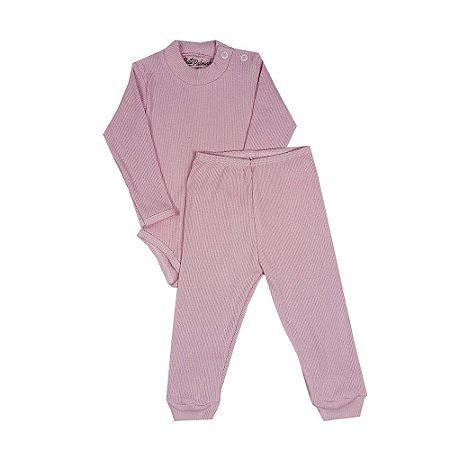 Conjunto Bebê Básico Rosa