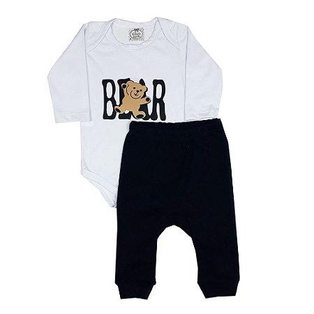 Conjunto Bebê Body Bear + Calça Saruel