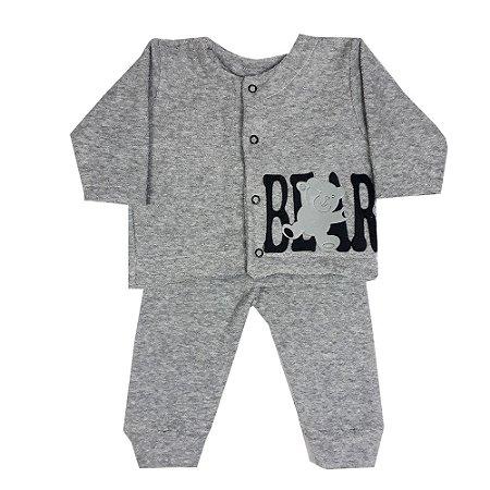 Conjunto Bebê Casaco E Calça De Bucle Bear