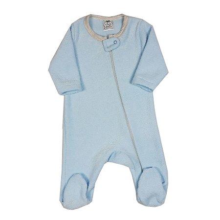 Macacão Bebê De Bucle Azul