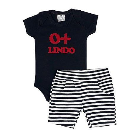 Conjunto Bebê O+ Lindo Preto