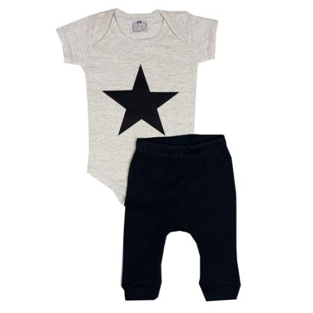 Conjunto Bebê Estrela Mescla