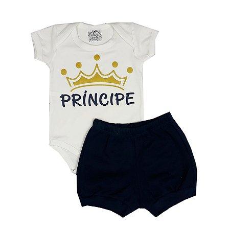 Conjunto Bebê Príncipe Azul Marinho