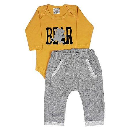 Conjunto Bebê Bear Amarelo