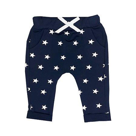 Calça Bebê Estrelas Azul Marinho
