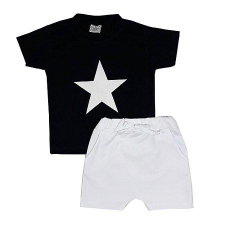 Conjunto Infantil Estrela Branca