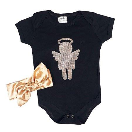 Body Bebê Anjo + Turbante