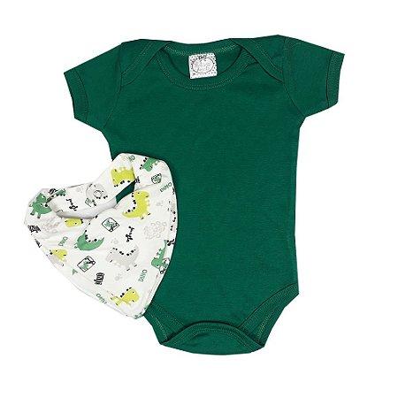 Body bebê + Bandana Dinossauro