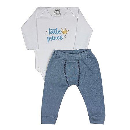Conjunto Bebê Body Little Prince + Calça Boxer