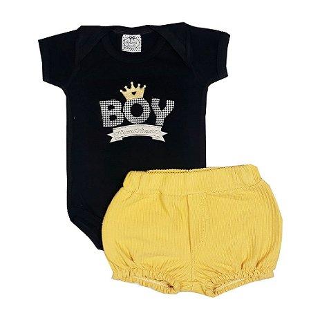Conjunto Bebê Boy Preto