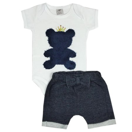 Conjunto Bebê Urso Jeans