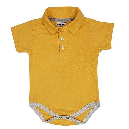 Body Bebê Polo Amarelo