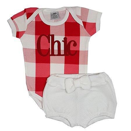 Conjunto Bebê Chic Xadrez