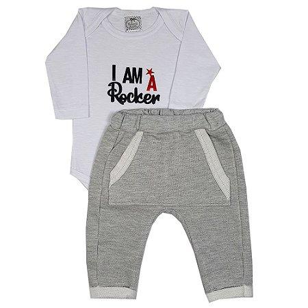 Conjunto Bebê I Am Rocker